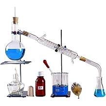 250ml-2000ml nuovissimo laboratorio olio essenziale distillazione Apparatus acqua Distillatore purificatore vetreria kit W/Separatory imbuto condensatore tubo set completi