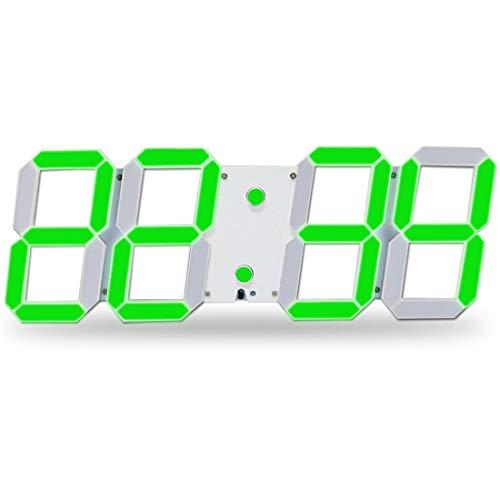 Moderno reloj de pared del temporizador Digital Wall Clock 3D LED reloj estéreo, ajustable de brillo...