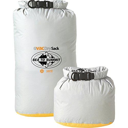 Sea To Summit Packsack eVac Drysack mit eVent - Wasserdichter Packbeutel hellgrau