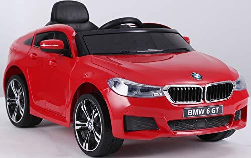 RIRICAR Voiture électrique BMW 6GT - Siège monoplace, Rouge, Licence d'origine, Portes à...