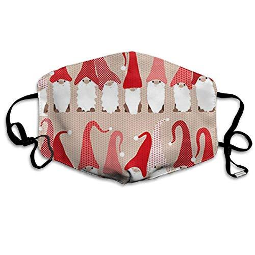 Masken, Masken für Erwachsene, Holiday Greeting Gnome Friends Mask Black Gray Face Mask - Flu Mask, Dust Mask, Allergy Mask - Comfortable, Protection from Dust, Pollen, Allergens, Flu ()