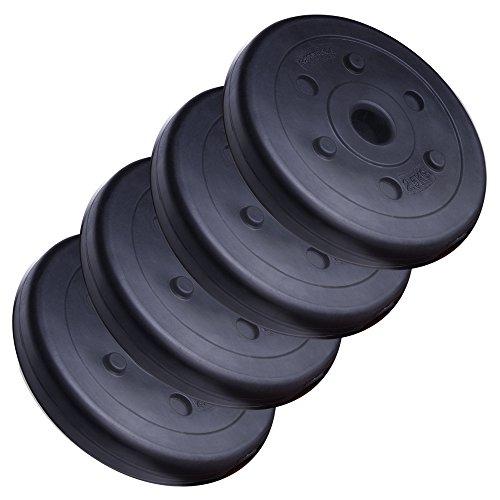 ScSPORTS 10 kg Hantelscheiben-Set Kunststoff 4 x 2,5 kg Gewichte 30/31 mm Bohrung