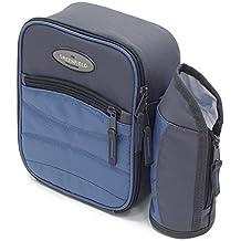 Greenfield Collection Deluxe - Refrigerador personal/bolso lonchera con porta botellas extraíble, color azul