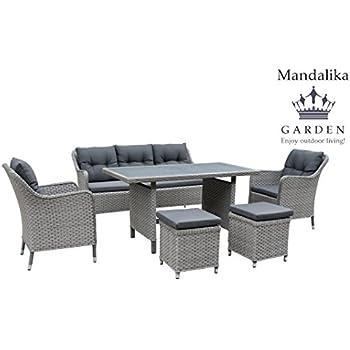 Amazon.de: Mandalika Garden Hohe XXL Dining Poly Rattan