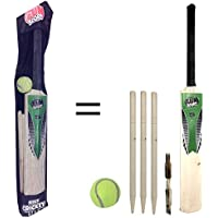 laeto Toys Junior-Cricket-Set, Größe 5, für Kinder, inkl. Schläger und Tennisball der Größe 5, 3Stumps und Bails, ideal für Draußen