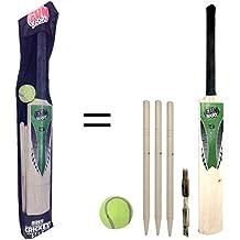Jeu de cricket taille 5Junior pour enfants par Laeto Toys Comprend d'Taille cinq chauve-souris Balle de tennis 3quilles et anneau Idéal pour l'extérieur les enfants jouer à des Jeux