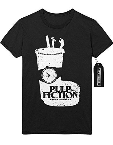 T-Shirt Pulp Fiction Mia and Vincent dancing on Cup C123445 Schwarz XL (Pulp Fiction Mia Und Vincent Kostüm)