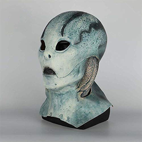 K-Y YK 2019 Latest Movie Hellboy: Rise of The Blood Queen cos Fish mask Halloween Costume Adult Full Helmet