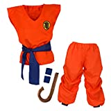 papapanda Kinder Dragon Ball Son Goku Kostüm Trainingsanzug, Orange, Blau, L