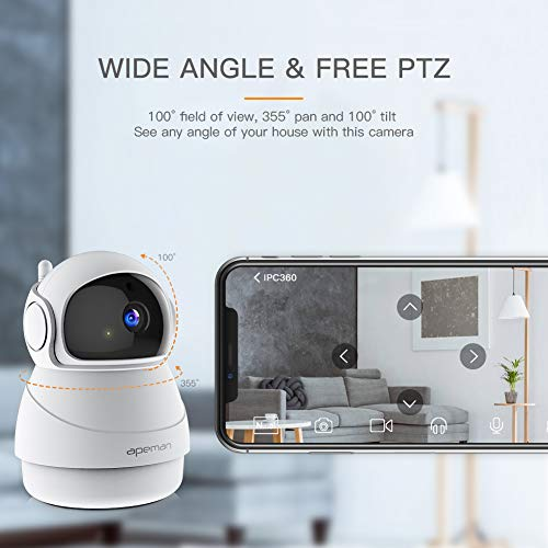 Zoom IMG-2 apeman 1080p telecamera sorveglianza wifi