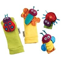Lamaze Garden Bug Wrist Rattle & Foot Finder Set, lamaze, soft, toys, wrist, foot, rattles
