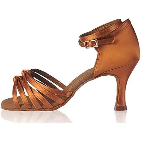 SONGYUNYANPiso suave acrobacias mujer raso de baile latino zapatos , 39