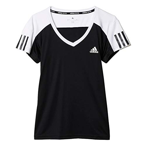 adidas Damen Tennis Club T-Shirt, Black/White, S, AJ3218