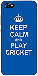 Snoogg Keep Calm And Play Cricket Designer Protective Back Case Cover For Hua...