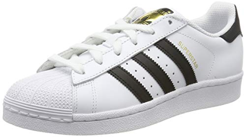 adidas Superstar J, Unisex Adulto, Blanco (Cloud White/Core Black/Cloud White 000), 38 2/3 EU