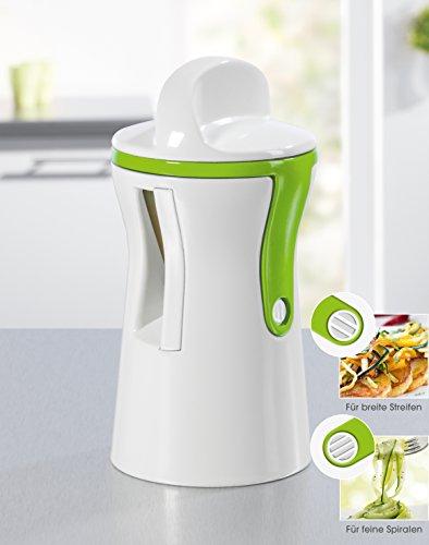 2017er Dual Hochleistungs Spiralschneider mit einstellbaren Breitegrad für Gemüse-Nudeln und Julienne-Spiralen für gesunde Kohlehydratfreie, Glutenfreie Ernährung (BPA Frei)