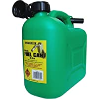 S Style Unleaded Petrol Can and Spout Green 5 Litre