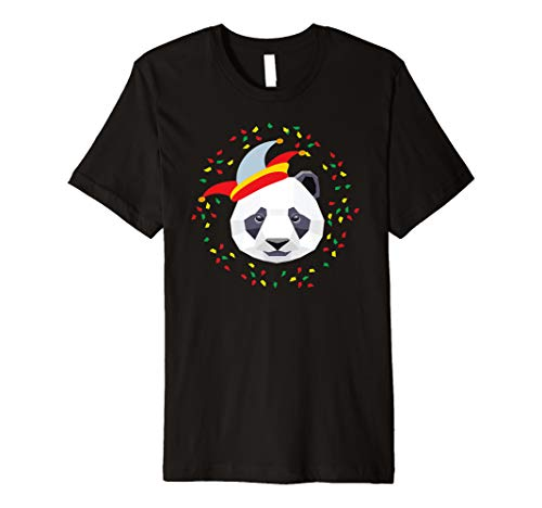 Karneval Panda (2019) T Shirt Verkleidung Kostüm Bär (Frauen Panda Bär Kostüm)