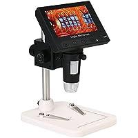 """KKmoon 500X 4.3""""Pantalla LCD Portátil Microscopio 1080P LED Lupa Digital con Soporte para Herramienta de Soldadura para Reparación de Tarjetas de Circuito"""