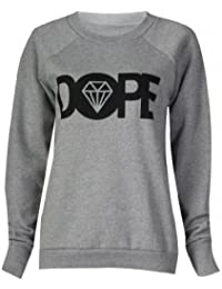 Frauen dopen Pullover (womens dope sweater) (36/38 (sm), grau - grey)