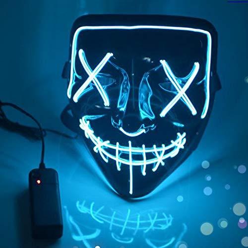 Boodtag Maske mit LED Erschreckend Maske LED leuchten Masken für Erwachsene Für Weihanchten Festival Kanerval Cosplay Halloween ()