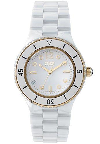 STORM Womens Quartz Watch, Analogue Classic Display and Ceramic Strap 47090/GD
