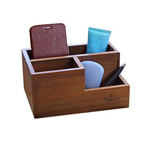 Lumanuby 1X Boîte en bois Boîtier Multifonctions Trousses à Maquillage Boîte Boite Modèle Style de Beauty case Boîte de rangement Coffrets Présentoir Cosmétiques