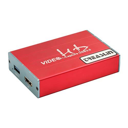 USB 3.0 HDMI Game Capture card 1080p 60FPS Video recorder mit niedriger Latenz für Game Live-Streaming auf Youtube Twitch, kompatibel mit OBS Xsplit, ideal für PC / MAC / PS4 / Xbox One / DSLR