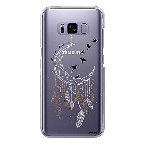Evetane Coque Compatible avec Samsung Galaxy S8 Souple Silicone Solide Ultra Resistant Fine Protection Housse Etui Transparente Rêves de Princesse Motif Tendance