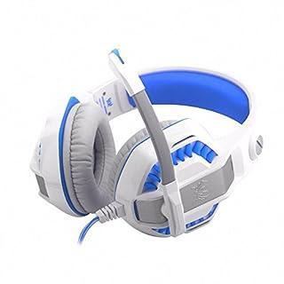 aohang G2000Zwei Generation Computer Gaming Headset Headset Gaming Headset mit Mikrofon, Weiß/Blau