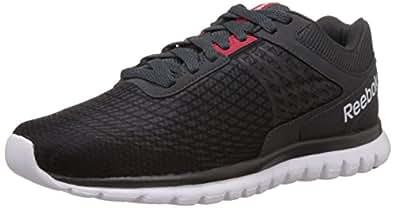 Reebok Men's Sublite Dual Dash Black,Grey,Matte Silver And White Running Shoes - 13 UK