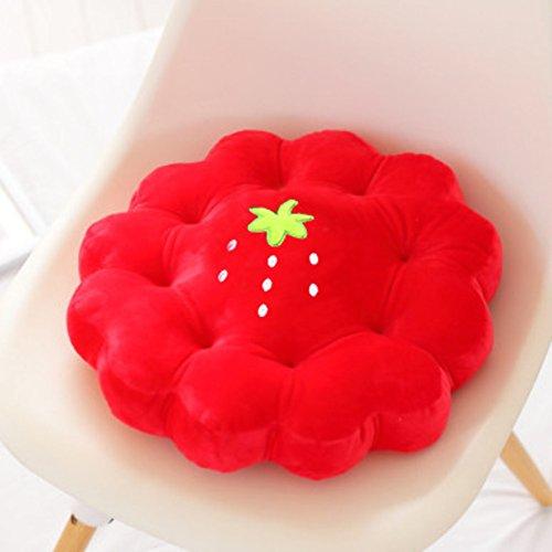 AMYDREAMSTORE Blume Sitzkissen für stühle Kristall-SAMT, Short plüsch Weiches Tatami-Boden-Kissen Kissen blätterteig Runde Kissen für Sofa Stuhl sitzkissen Steißbein Schmerzen-Q 40x40cm(16x16inch) -