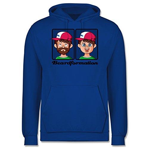 Statement Shirts - Beardformation - Männer Premium Kapuzenpullover / Hoodie Royalblau