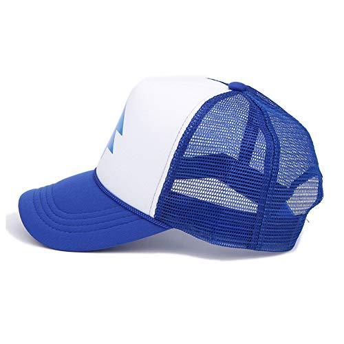 DAIDAIBQM Baseballmütze Blauer Kiefer-Baum-Hut-Karikatur-Hip-Hop-Gebogener Schöpflöffel Erwachsener Mann-Vati-Hut