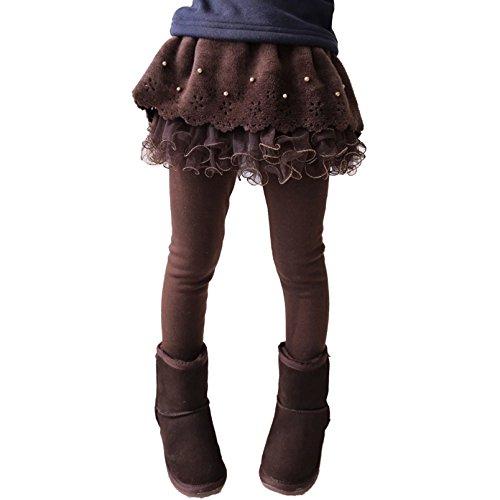 Junkai Baby Mädchen Strumpfhose - Herbst Winter Warm Dick Leggings mit Minirock Baumwolle Hose für Neugeborenen Kinder Mädchen