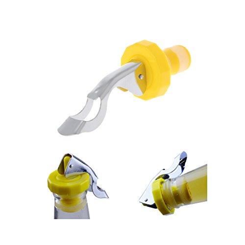 Haorw Flaschenverschlüsse mit Hebel Kitchen Bar Werkzeuge, 3er-Set (Gelb + Weiß)