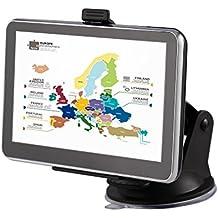 """Tsing Sistema de Navegación GPS para Coche 5""""pulgadas Mapa de Europa de 45 Países"""