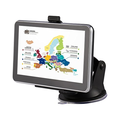Tsing Navigation Device Europe Traffic Sat Nav with Free Lifetime Maps, 4G 5.0Inch) Display, Europe 45countries