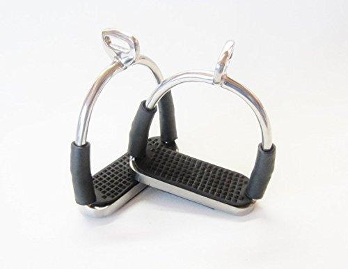 Sicherheits-Steigbügel mit Gelenken - Silber- 90° gedreht