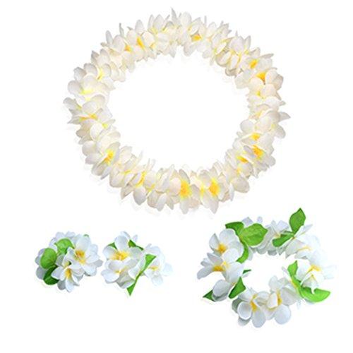 Multicolores-Guirnaldas-Hawaianas-de-flores-Accesorios-de-playa-Hawaii-Wreath-Collar-de-flores-para-Fiesta-partido-de-Playa