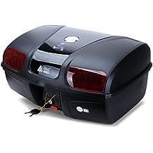 AUTOINBOX - Maletín de 47 litros para motocicleta, motocicleta, parte superior trasera, almacenamiento universal para equipaje