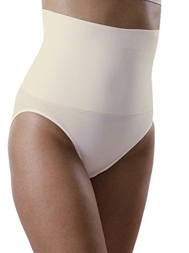 3er Pack Yenita® Damen Miederslip mit Bauchweg-Effekt, Figurformender Slip Haut