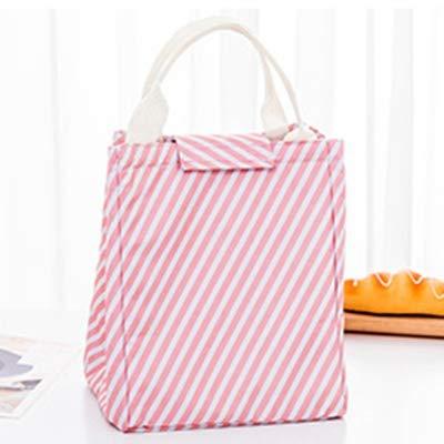 Neue Tragbare Student Lunch Bag Isolationsbeutel for Frauen Thermische Isolierte Picknick Lagerung Von Lebensmitteln Eisbeutel Kühler Handtasche (Color : Stripes A) -