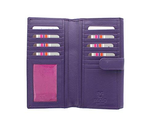 Borsa in pelle Mala Leather Collezione ORIGIN con Protezione RFID 3298_5 Verde Porpora