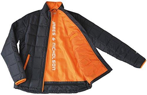 JAMES & NICHOLSON Veste matelassée avec Thinsulate insulation™ 3M carbone/orange
