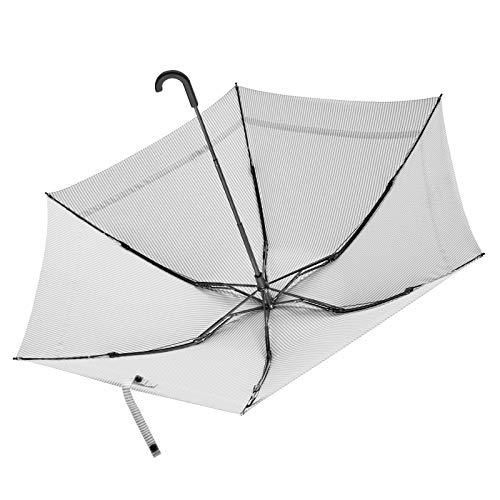 Winddichter Regenschirm Teflonbeschichtung Kompakter Regenschirm Reiseregenschirm Serie Taschenschirm mit Regenschirm weiblich dreifach wasserabweisend Regenschirm Puder pudergrau -