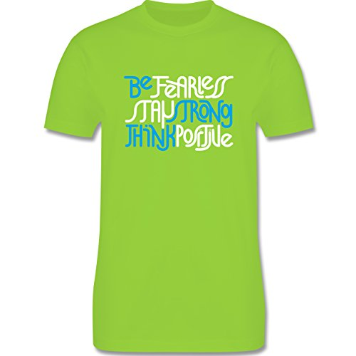Statement Shirts - Fearless strong positive - Herren Premium T-Shirt Hellgrün