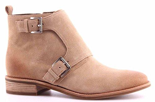Women's Shoes Ankle Boots MICHAEL KORS Adams Monk Strap Bootie Suede DK...
