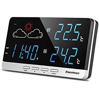 excelvan funkwetterstation wetterstation pr zisionsvorhersage temperatur au ensensor. Black Bedroom Furniture Sets. Home Design Ideas