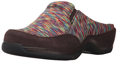 Softwalk Alcon, Damen Clogs & Pantoletten, Bright Multi/Dark Brown - Größe: 41,5 EU (M) -